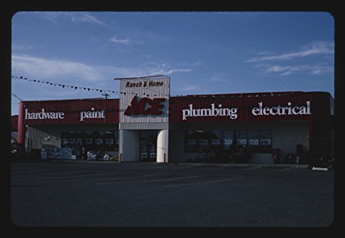 Vintography 24 x 16 Ready to Hang Gallery Wrapped Fine Art Canvas Print of: ACE Hardware, Post Falls, Idaho 2004 Roadside Americana, J Margolies 46a by Vintography
