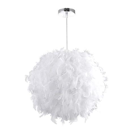 Welcomefee - Lámpara de techo colgante de plumas, romántica ...