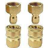 PLG High Pressure Washer Hose Quick Connector Kit, M22-3/8