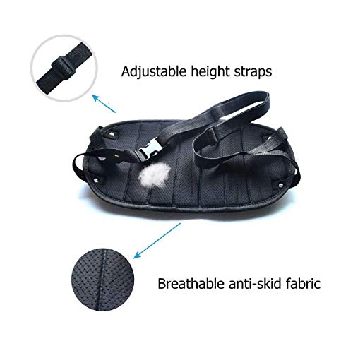 PRAVETTE Foot Rest,Travel Footrest Airplane Leg Rest Flight Foot Hammock Carry-on Travel Pillow Under Desk Accessories by PRAVETTE (Image #2)
