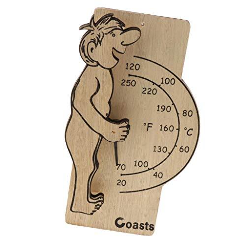 B Blesiya Wooden Digital Thermometer Sauna Accessories for Sauna Room Wall Mounted by B Blesiya (Image #6)
