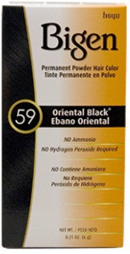 (Bigen Permanent Powder Hair Color 59 Oriental Black 1 ea (Pack of 3))