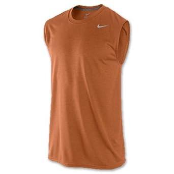 a40ecb34 Nike Legend DRI-FIT Poly Sleeveless Crew XL Desert Orange: Amazon.in ...