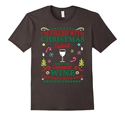 Funny Christmas Shirt For Wine Lovers Men Women