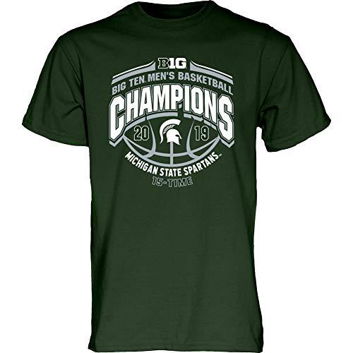 Elite Fan Shop Michigan State Spartans Big Ten Basketball Championship Tshirt 2019 Conference - M - -