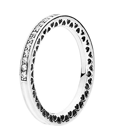 Pandora Ring-56 Women Hearts 191011CZ Radiantes