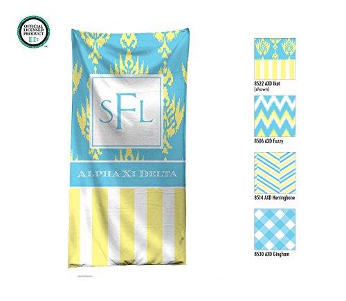 Alpha Xi Delta Personalized Beach Towel / Pool Towel / Personalized Beach Towel / Monogrammed Beach Towel / AXD Big Little / Rush Gift - Kappa Alpha Theta Lilly Pulitzer
