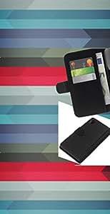 """A-type (Patrón Geometría"""") Colorida Impresión Funda Cuero Monedero Caja Bolsa Cubierta Caja Piel Card Slots Para Sony Xperia Z2 D6502"""