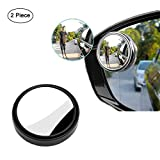 MarKnig Blind Spot Mirrors,360° Rotate Blind Spot Mirror, Rotate Wide Angle Rear View Mirror HD Glass,Convex Adjustable Side Mirrors for car (Black)