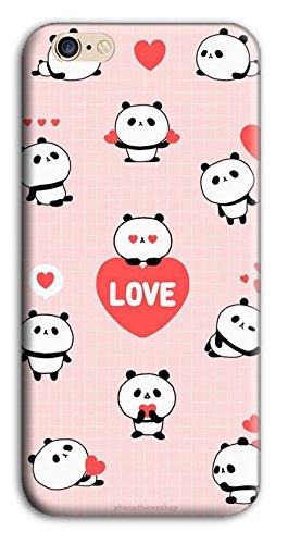 Mixroom - Cover Custodia Case In TPU Silicone Morbida Per Apple Iphone 6 6s W349 Panda Love