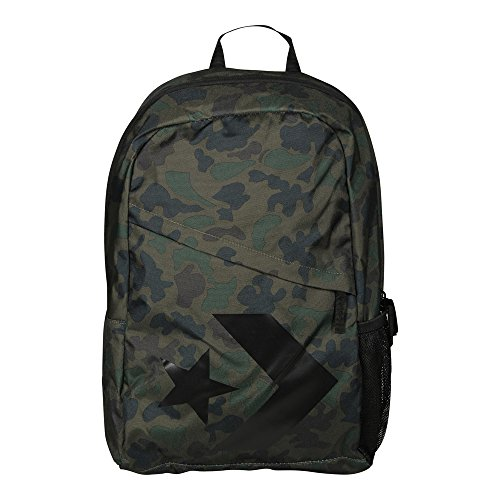 33e37a828a30 Converse Women s Backpack Speed Backpack Star Chevron Camo green black   Amazon.co.uk  Clothing