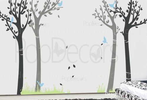 PopDecors - Dance with breeze tree decals - Custom Beautiful Tree Wall Decals for Kids Rooms Teen Girls Boys Wallpaper Murals Sticker Wall Stickers Nursery Decor Nursery Decals by Pop Decors