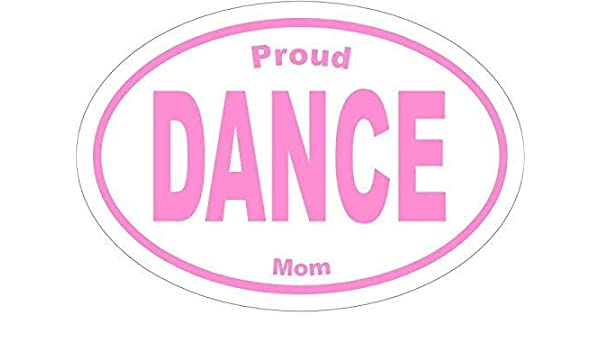 DANCE Decal Oval HOT PINK I Love Dance Vinyl Sticker Dance Gift Dance Mom
