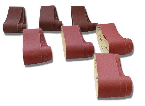 10-teiliges Premium Schleifband Set 100x610 mm Korn 60-400