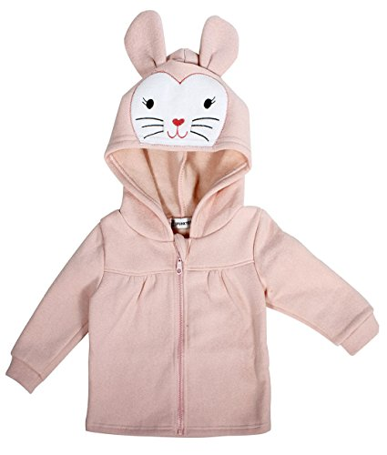 - Simplicity Kid's Hooded Coat in Comfy & Soft Animal Pattern, Fleece, Pink