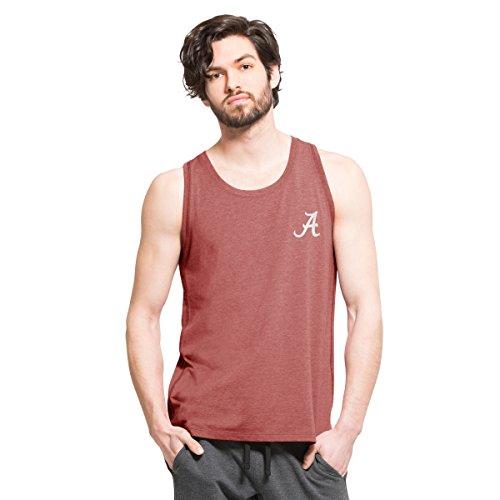 NCAA Alabama Crimson Tide Men's '47 Overload Tank Top, X-Large, Shift Cardinal