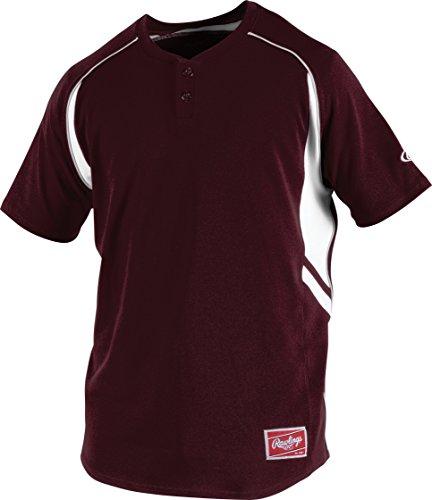 Rawlings Men's 2-Button Jersey, Maroon, XX-Large