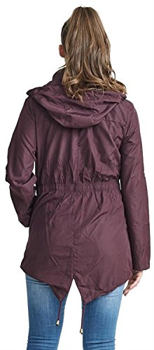 Polyester New 8 Mulberry Hooded Plain Kagool 24 Waterproof Womens Lightweight Jackets Mac Coats Selfie Click PFqTIx