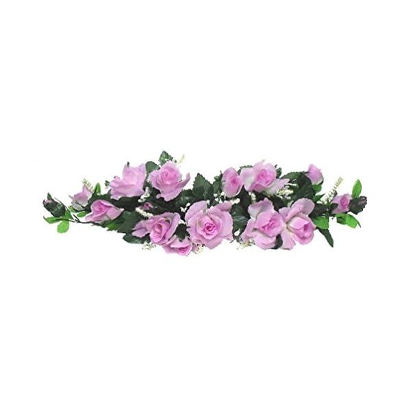 Lavender Lilac Swag Silk Wedding Roses Centerpiece Flowers Arch Gazebo Pew Decor