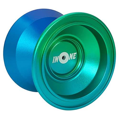 INONE Aurora YOYO Aluminum Alloy Unresponsive Yo-yos Designed for Kids, Yo-Yo Fans, Beginners Gift Glove, 10 Strings, Spare Bearing (Best Unresponsive Yo Yos)