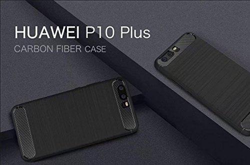 Funda HUAWEI P10,Manyip Alta Calidad Ultra Slim Anti-Rasguño y Resistente Huellas Dactilares Totalmente Protectora Caso de Cover Case Material de fibra de carbono TPU Adecuado para el HUAWEI P10 A
