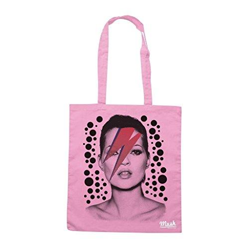 Borsa Kate Moss David Bowie - Rosa - Famosi by Mush Dress Your Style