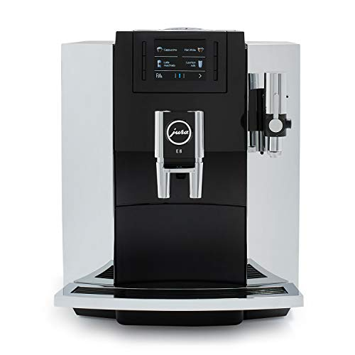 Jura E8 Chrome Automatic Coffee Machine, Black Chrome