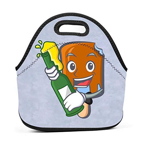 Lunch Bag Food Box Portable Carry Storage Tote Picnic Handbag School Work Office Print Ice Cream Beer