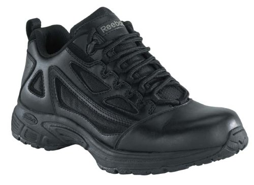Reebok Men's Athletic Oxford Work Shoes Round Toe Black 11 EE US Athletic Round Toe Work Boots