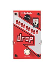 The digitech DROP is a dedicated polyphonic DROP tune pedal that allows you to DROP your tuning from one semitone all the way down to a full octave. Get down-tuned Chunk without having to change guitars! The DROP also features a momentary/lat...