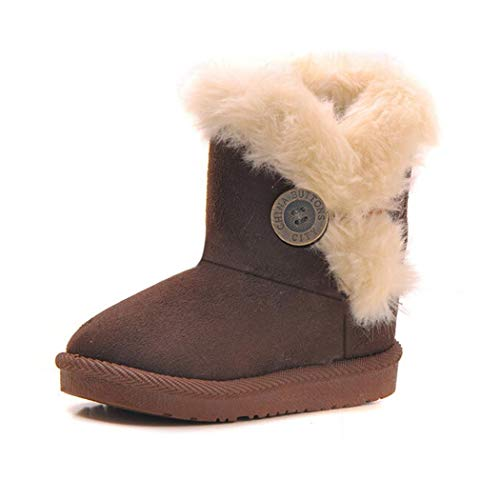 Ruior Neudas Winter Kids Solid Color Children Snow Boots Thick Keep Warm Shoes Boots