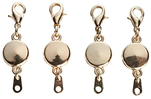 Miles Kimball Locking Magnetic Jewelry Clasps - Set Of 4