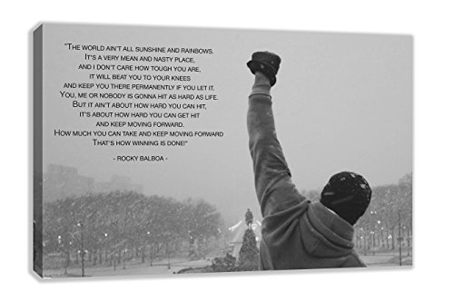 ROCKY BALBOA FAMOUS MOVIE QUOTE PHILADELPHIA CANVAS WALL ART