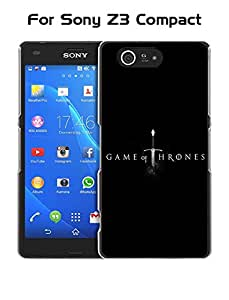 Z3 Compact Funda Case - Game Of Thrones Logo Protective Back Funda Case For Sony Xperia Z3 Compact (Only Fit For Z3 Compact) Funda Case Funda Case Cover Fit For Sony Xperia Z3 Compact (Only Fit For Z3 Compact) Funda Case
