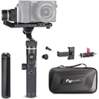 Feiyu G6 Plus Kit 3-Axis Splash-proof Stabilizer Gimbal with Mini tripod Phone Clip Kit 12 Hours Running Time for Sony Mirrorless Camera a6500 Sony RX100, iPhone, Samsung, GoPro, Sony RX0
