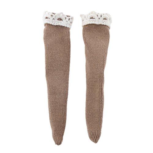 MonkeyJack 1/6 Trendy Doll Coffee Lace Stockings Socks for 1/6 Licca Azone Blythe BJD Doll Clothing Dress up Accessories Girls Xmas Gifts -