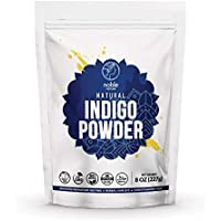 Noble Nature Natural Indigo (Indigofera Tinctoria) Powder, 227g /08 oz   Organically Grown  Natural Black Dye/For Hair…