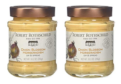 Robert Rothschild Farm Onion Blossom Horseradish (10.1 z) - Dip & Spread - Pretzel and Vegetable Dip - Roast Beef, Pork, Sausage Sauce - Sandwich Spread Pack of 2 (Robert Farm Onion Rothschild)