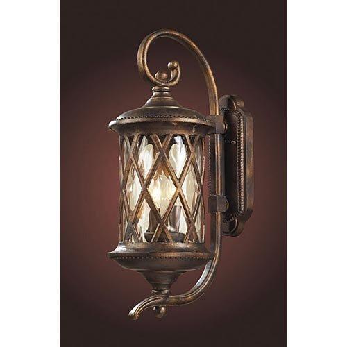 Elk Gate Barrington - Elk Lighting 42031-2 Barrington Gate 2 Light Medium Transitional Outdoor Wall Lamp Lighting Fixture, Hazlenut Bronze, Designer Waterglass, B11859