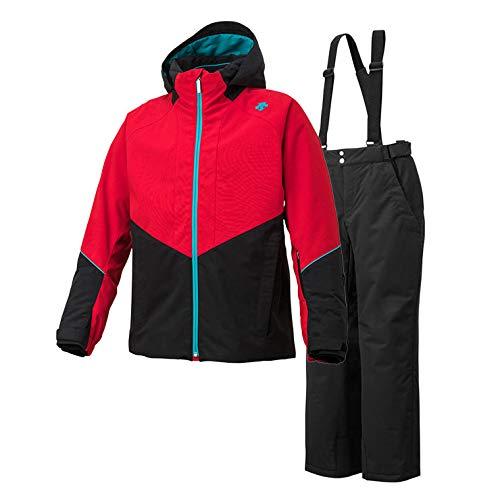 DESCENTE(デサント)メンズ スキースーツ スキーウェア 上下セット DWMMJH70 赤 Large