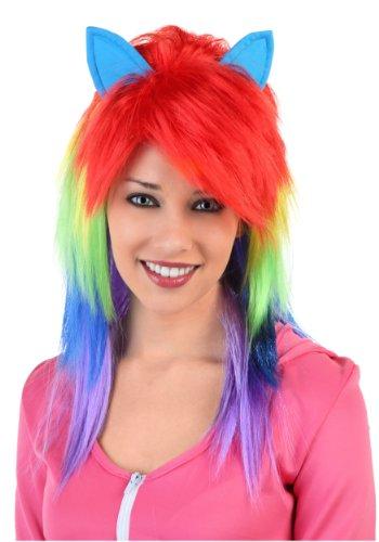 Rainbow Pony Wig Standard -
