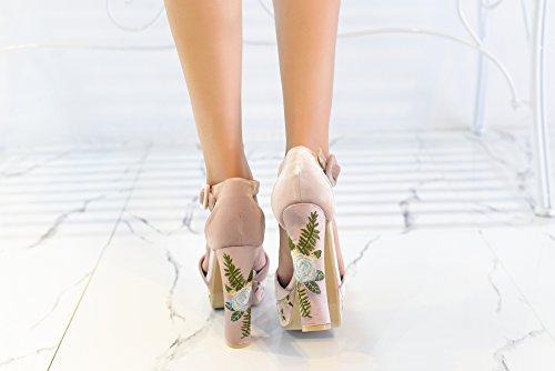 Signora Fl Delle Piattaforma Kimberly Blocco Nudo Di Donne Glamour Mila Tacco Grosso ZwOdq6dB