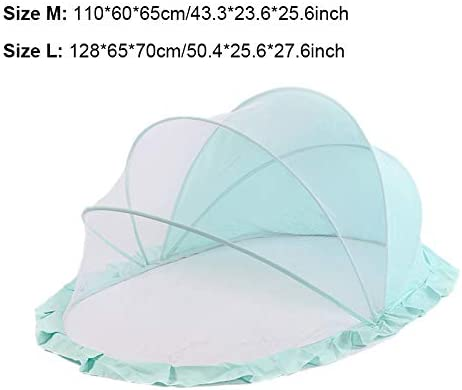 ThreeH Folding Mosquito Net for Baby Travel Bed Home Tent Crib Cover Prevent Mosquito Bites BX10L,Green