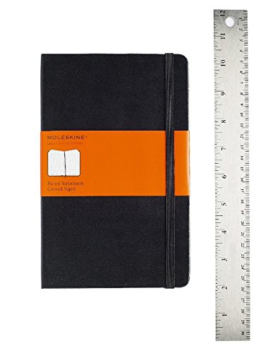 Moleskine Classic Notebook, Large, Ruled, Black, Hard Cover (5 x 8.25) (Classic Notebooks) cover