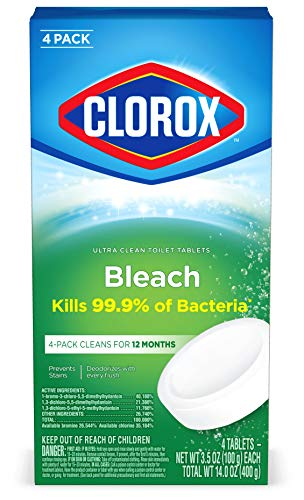 Clorox Automatic Toilet Bowl Cleaner Tablets with Bleach