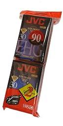 JVC Compact Video Cassette VHSc, 2 pack