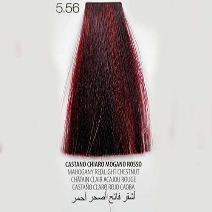 Tinte para Cabello color Action 5.56 Castaño Claro Caoba Rojo ...