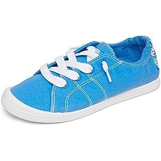 Roxy Women's Bayshore Slip on Shoe Sneaker, Blue Curacao, 6 M US