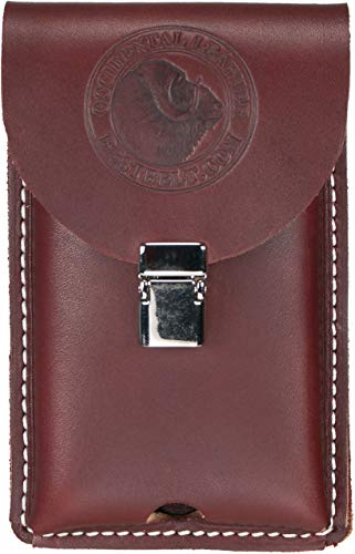 Occidental Leather 5326 Occidental Hand crafted Clip-On Leather Phone Holster Fits Most Smart Phones Including Iphone 5, 6, 7, Samsung 6, Regular (Calculator For 5 Iphone Case)