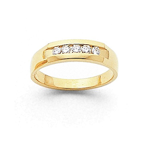 14k AA Diamond Men's Channel Band Diamond quality AA (I1 clarity, G-I color) (Aa Band Diamond Mens Channel)